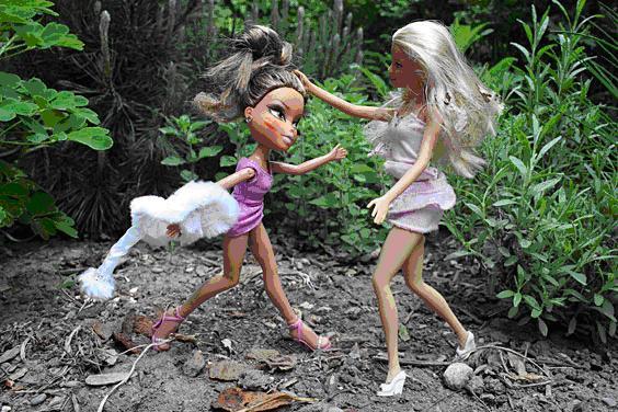 Barbie catfight