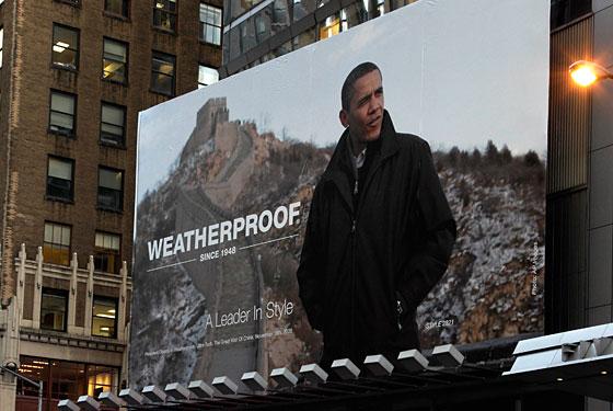 Obama weatherproof billboard