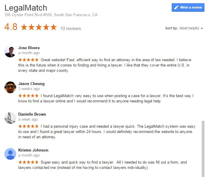 LegalMatch Google Plus Local