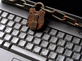 Chained Laptop